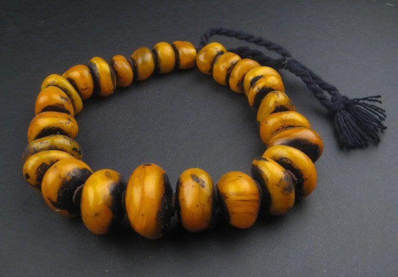 Moroccan Bumble Bee Amber Resin Beads (Graduated) - The Bead Chest
