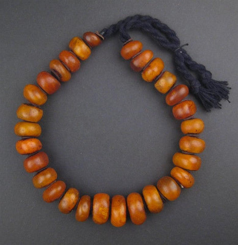 Image of Moroccan Honey Amber Resin Beads (Petite) - The Bead Chest