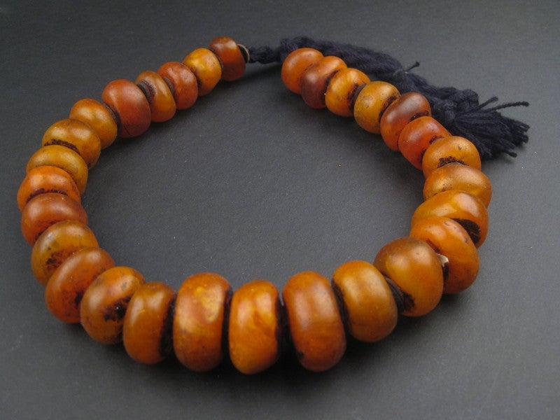 Moroccan Honey Amber Resin Beads (Petite) - The Bead Chest