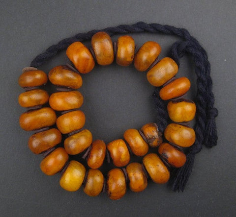 Image of Moroccan Honey Amber Resin Beads - The Bead Chest