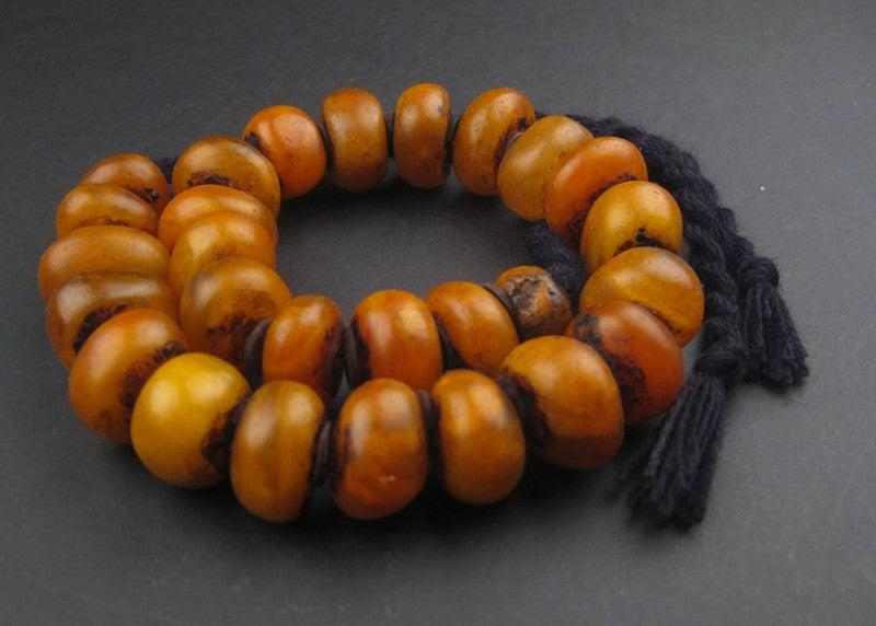 Moroccan Honey Amber Resin Beads - The Bead Chest