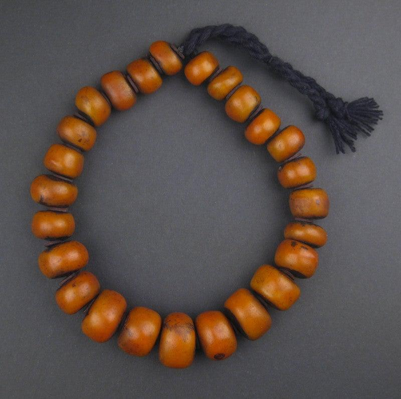 Moroccan Amber Resin Beads (Graduated) - The Bead Chest