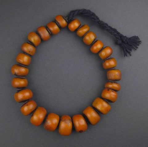 Image of Moroccan Amber Resin Beads (Graduated) - The Bead Chest