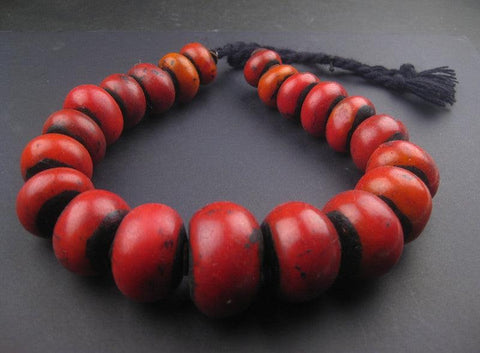 Image of Moroccan Cherry Amber Resin Beads (Graduated) - The Bead Chest