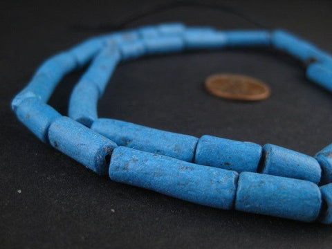 Image of Blue Moroccan Pottery Beads - The Bead Chest