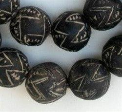 Mali Clay Spindle Whorl Beads (Round) - The Bead Chest