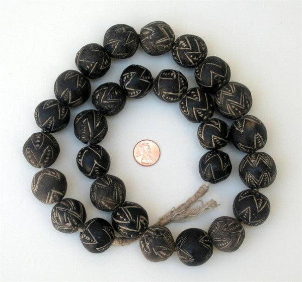 Mali Clay Spindle Whorl Beads (Round)