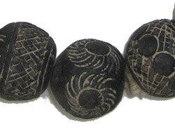 Dogon Mali Clay Spindle Beads (Round) - The Bead Chest