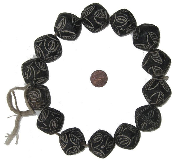Dogon Mali Clay Spindle Beads (Round)