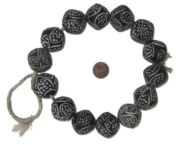 Dogon Mali Clay Spindle Beads (Bicone)
