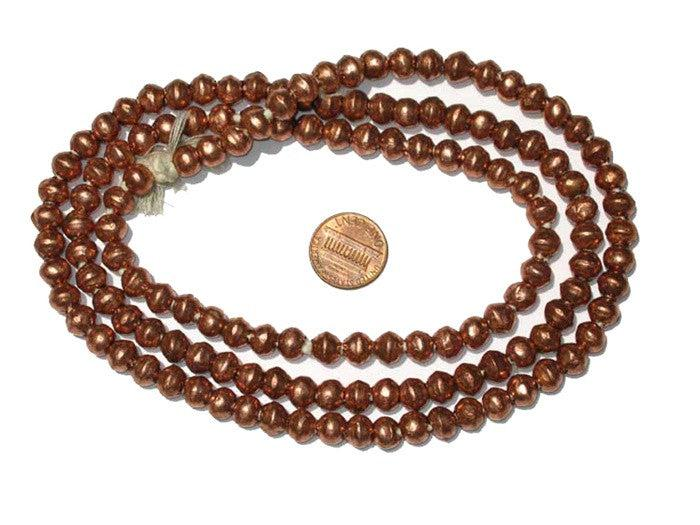 Ethiopian Copper Bicone Beads (8x7mm) - The Bead Chest