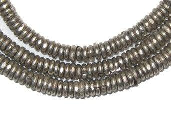Kenya White Metal Heishi Beads - The Bead Chest