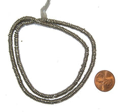 Kenya White Metal Heishi Beads