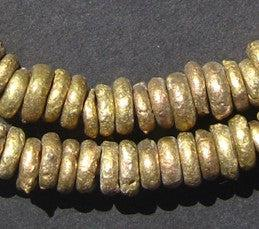 Nigerian Brass Donut Beads - The Bead Chest