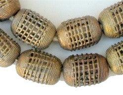 Image of Brass Filigree Beads (Round, Cylindrical) - The Bead Chest