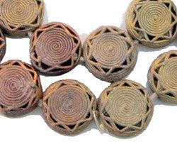Image of Brass Filigree Beads (Round, Flat) - The Bead Chest
