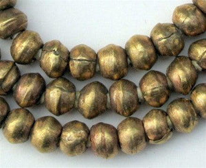 Round Brass Ethiopian Beads (8mm) - The Bead Chest
