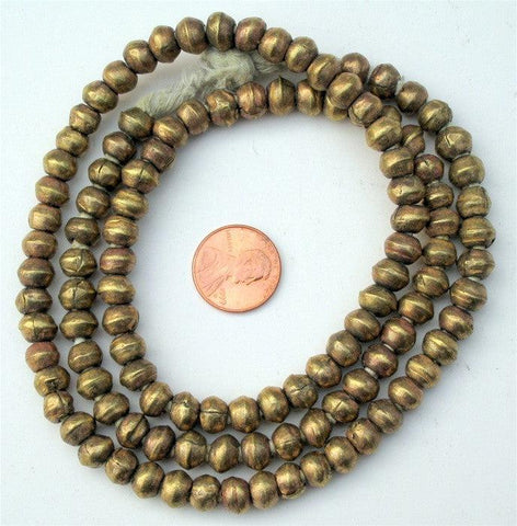 Image of Round Brass Ethiopian Beads (8mm) - The Bead Chest