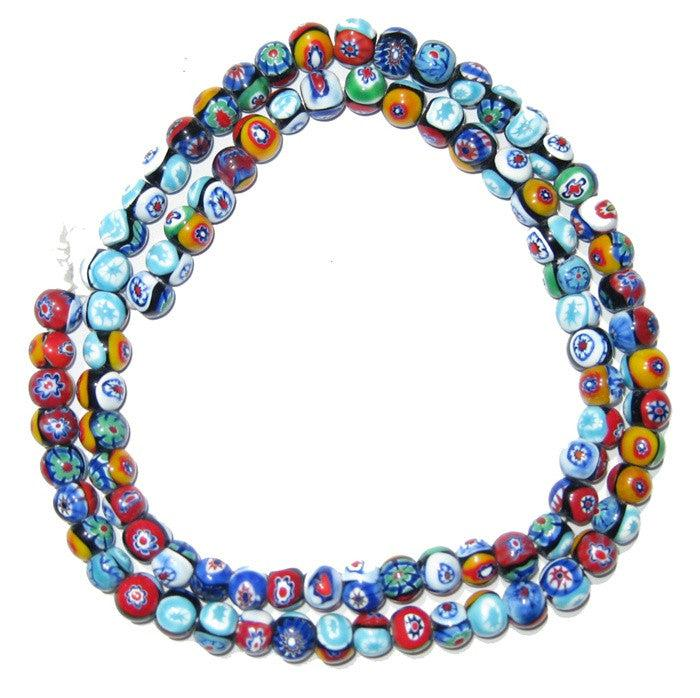 Millefiori Beads (Small, Round) - The Bead Chest