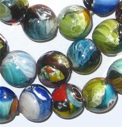 Glass Millefiori Beads (Small, Round) - The Bead Chest