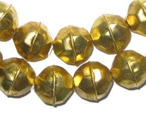 Faceted Aluminum Gold Color Beads (14mm) - The Bead Chest