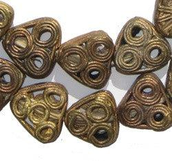 Image of Brass Filigree Triangle Beads - The Bead Chest