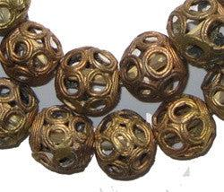 Brass Filigree Globe Beads (Large) - The Bead Chest