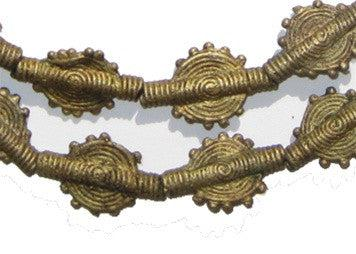 Brass Baule Beads, Sun Design (14mm) - The Bead Chest