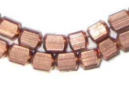 Copper Metal Cube Beads - The Bead Chest