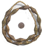 Brass Filligree Beads Oblong, Basket Design (Small)