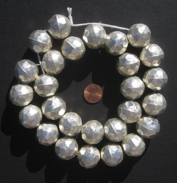 Faceted Aluminum Beads (24mm)