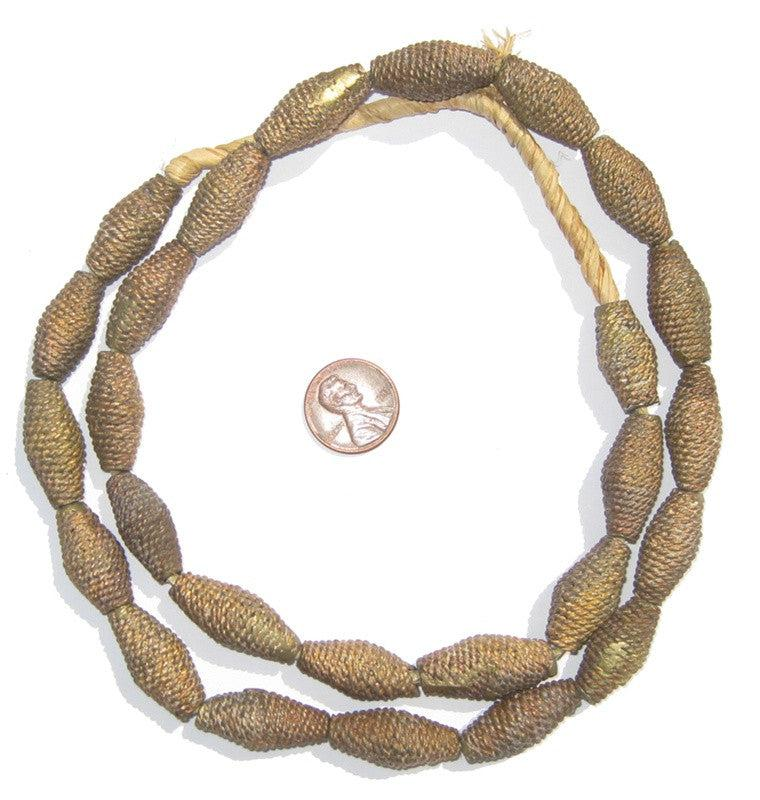Woven Brass Beads - The Bead Chest