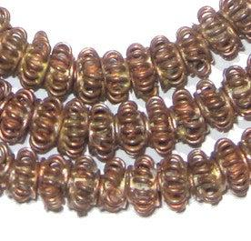 Handmade Copper Coil Lantern Beads - The Bead Chest