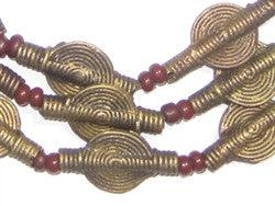 Smooth Sun Design Brass Baule Beads (12mm) - The Bead Chest
