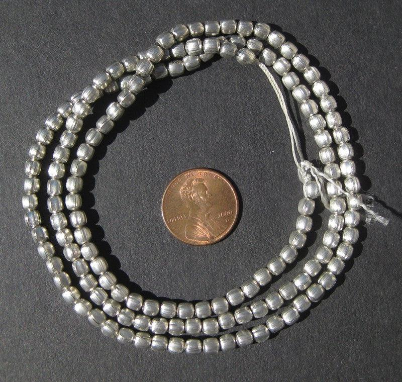 Silver Color Oval Beads - The Bead Chest