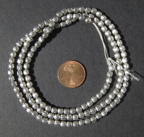 Silver Color Oval Beads
