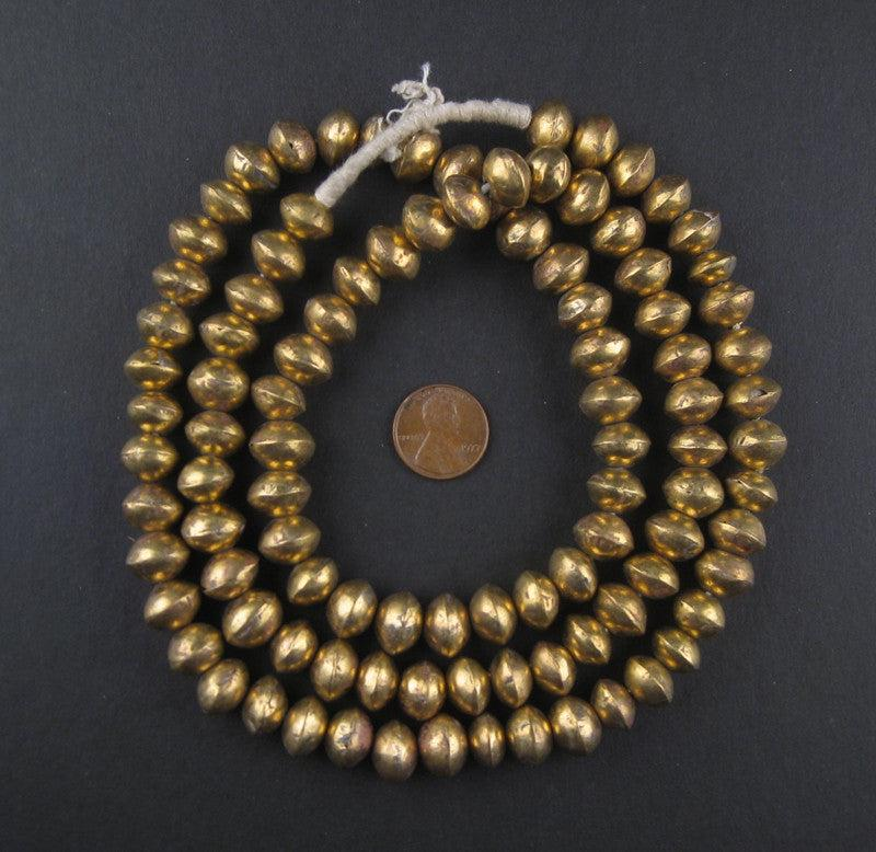 Mali Brass Bicone Beads (9x12mm) - The Bead Chest