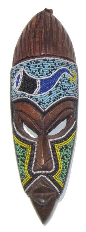 African Ghana Beaded Mask - The Bead Chest