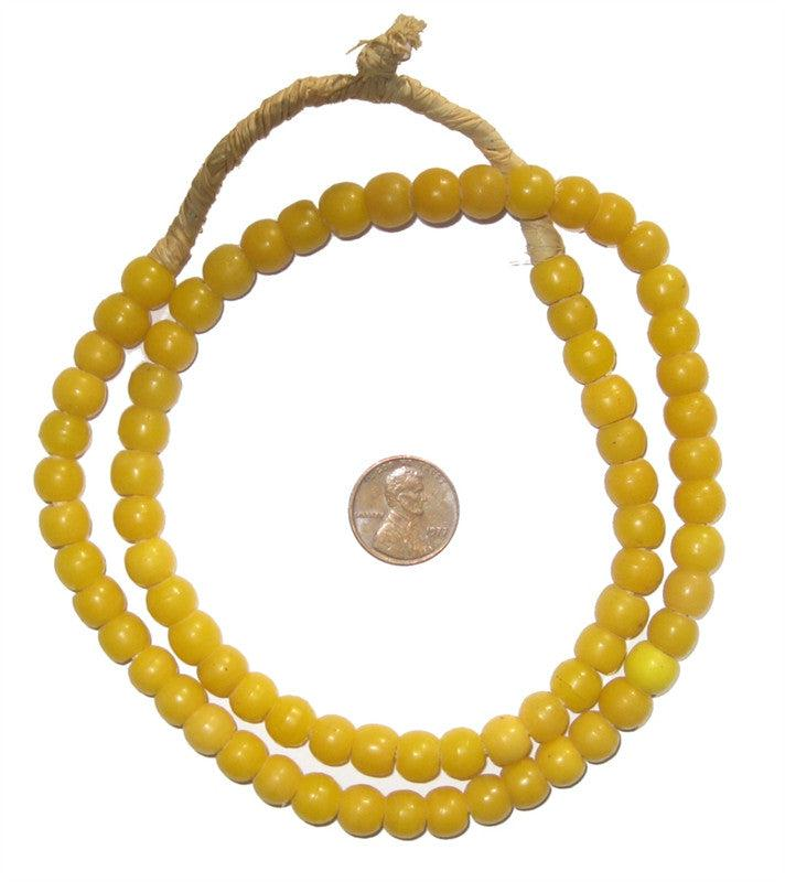 Amber Round Padre Beads - The Bead Chest