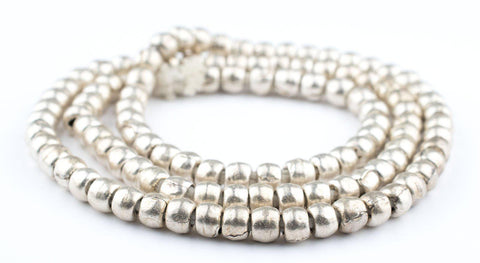Image of Silver Ethiopian Padre Beads (8mm) - The Bead Chest