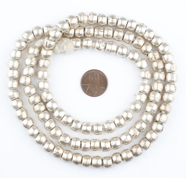 Silver Ethiopian Padre Beads (8mm)