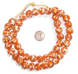 Tangerine Fused Recycled Glass Beads