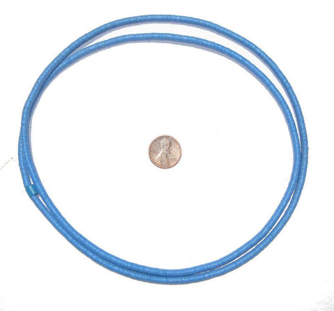 Blue Vinyl Phono Record Beads (4mm) - The Bead Chest