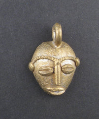 Traditional Mask Brass Pendant from Africa