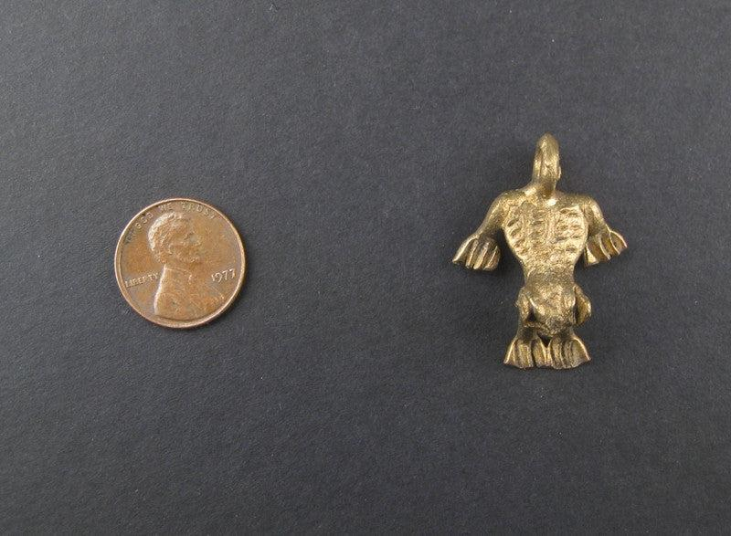 Frog Brass Pendant from Africa - The Bead Chest