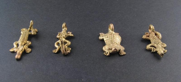 Reptilian Pack of Ghana Brass Pendants (4 pieces)
