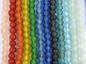 12 Strand Rainbow Bundle - Recycled Glass Beads (14mm) - The Bead Chest
