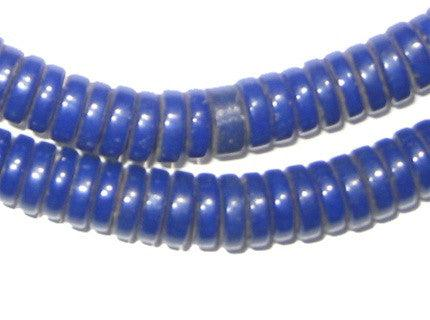 Sliced Blue Prosser Beads (8mm) - The Bead Chest