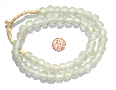 Clear Recycled Glass Beads (14mm) - The Bead Chest