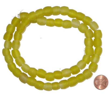 Image of Yellow Recycled Glass Beads (Small) - The Bead Chest